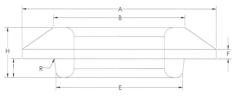 Drawing of Medium Heavy Flat Flange With Pilot