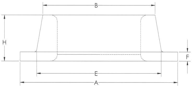 Drawing of Standard Heavy Flat Flange
