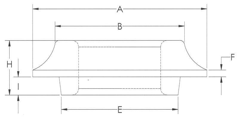 Drawing of Standard Heavy Flat Flange With Pilot
