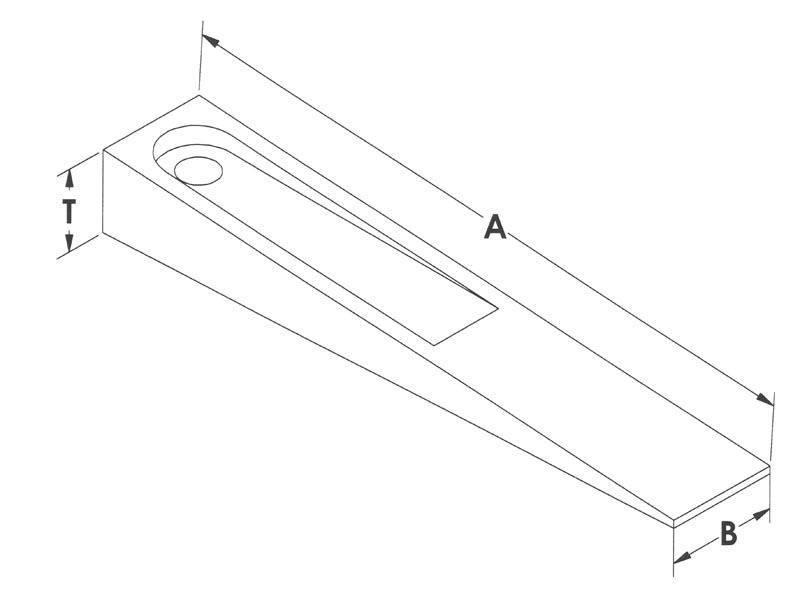 DRawing of Steel Set-up Wedges