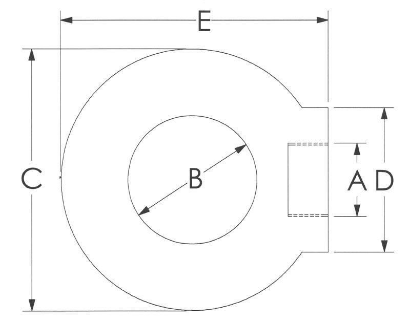 Drawing of Eye Nuts Metric