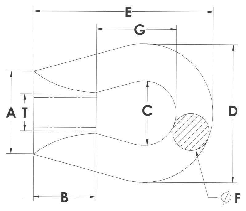 Drawing of Eye Nuts - Carbon steel