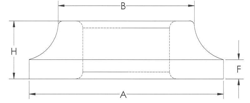 Drawing of Extra Heavy Flange Flat Type