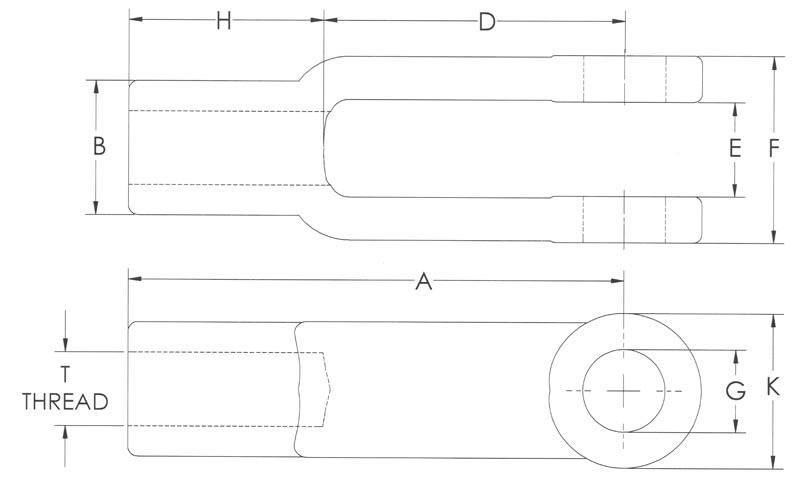 Drawings of Forged Adjustable Yoke Ends