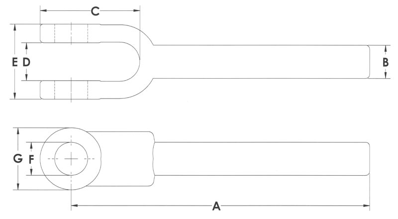Drawing of Forged Yoke Ends