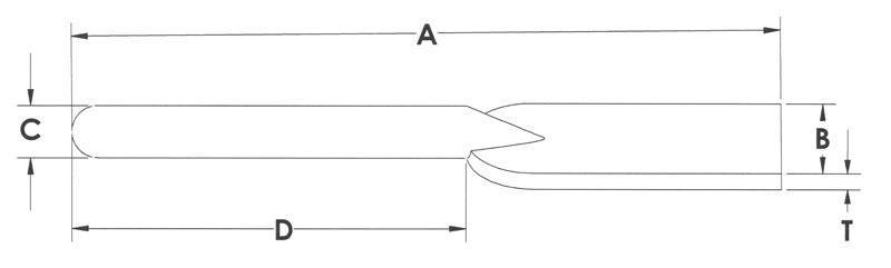 Drawing of Strap Ends Rectangle
